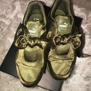Puma for Fenty Bow Sneakers - Olive Branch
